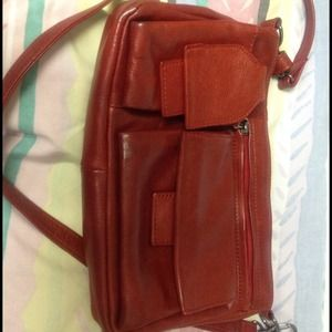 Handbags - Burgundy leather shoulder bag