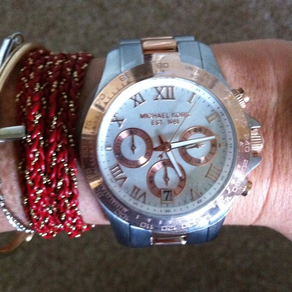 Michael Kors Accessories - NWT Michael Kors Two Tone Watch