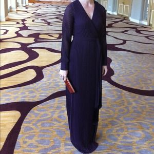 DVF Pleated Wrap Gown