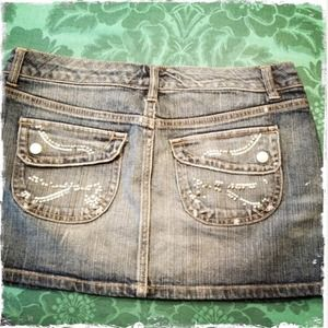 Distressed Jean Miniskirt by Celebrity Pink