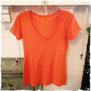 5/$25!🌟 GAP Scoop Neck Short Rolled Sleeve Tee XS