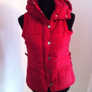 NWT - Super cute red Jacket vest.