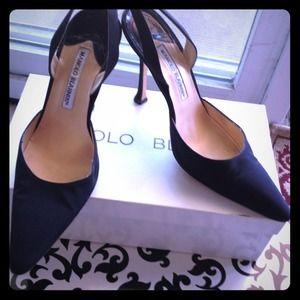 **JUST REDUCED** Manolo Blahnik strap heels