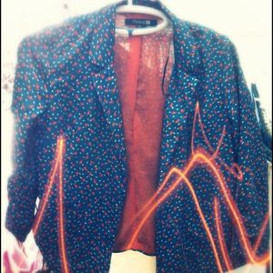Teal & Orange forever 21 blazer