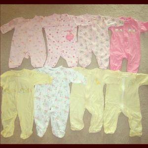 20 Pieces Newborn Bundle - Tops, Pants & Pajamas