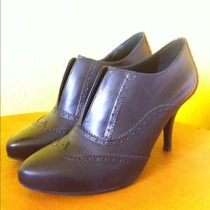 J. Crew Shoes - J. Crew wingtip leather booties heels