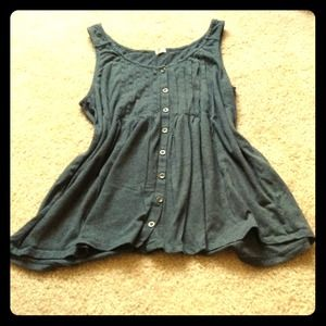 J. Crew Tops - J Crew charcoal baby doll tank