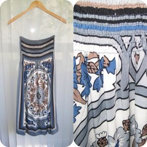 Dresses & Skirts - Printed Top Tube& Flow Dress (medium length)