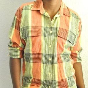Orange/Yellow/Black Plaid Long Sleeve