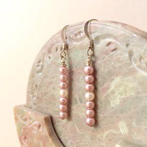 """""""Strawberries & Cream"""" Pearl Earrings ✨Handmade✨"""