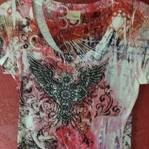 Tops - Angel wing t shirt  SOLD @patandg1❤❤❤👍👍