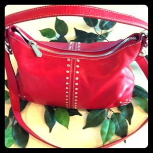 Michael Kors Red leather purse