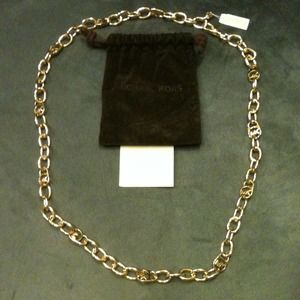 Michael Kors Jewelry - Michael Kors authentic gold metal chain  MK logo's