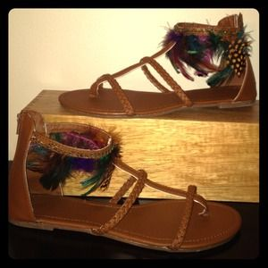 Shoes - Feather Sandals