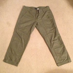 J. Crew Pants - REDUCED! J. Crew olive green cropped pants
