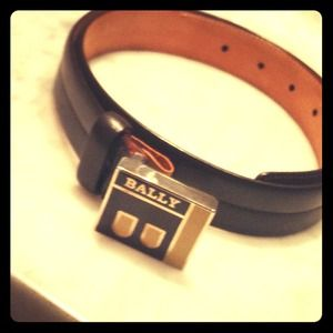 Bally leather belt