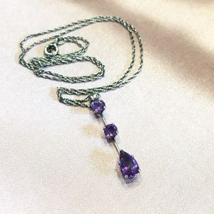 Jewelry - Genuine💜Amethyst & Sterling Silver Necklace💜
