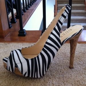Guess Shoes - NEW Guess Zebra Print Slingback heel