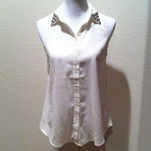 Tops - REDUCED Studded collar top