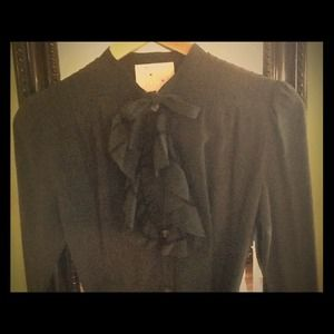 YMC Dresses & Skirts - Black silk shirt dress