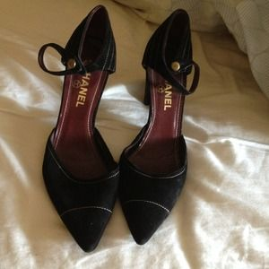 CHANEL Shoes - Authentic Suede Chanel Pumps/Heels