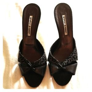 Manolo Blahnik Shoes - **reserved**authentic Manolo Blahnik kitten heels
