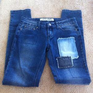 Denim - NEW Patchwork Skinny Jeans