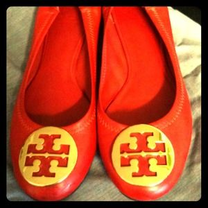 Tory Burch Shoes - RESERVED Tory Burch red flats