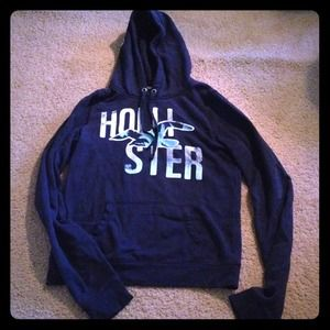 Hollister Jackets & Blazers - ♥SOLD♥ Dark blue hoodie