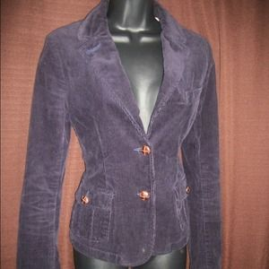 American Eagle Outfitters Jackets & Blazers - Navy Blue Corduroy Jacket