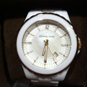 White Michael Kors Chronograph Watch