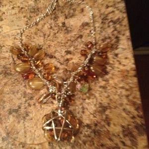 Jewelry - Gorgeous stone and wire wrapped star necklace.