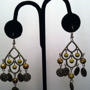 Jewelry - Olive Green Chandelier Earrings