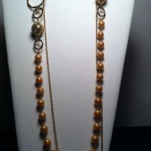 "Jewelry - 19"" Faux Pearl Beads with 20""  Necklace"