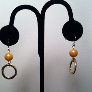 Jewelry - Faux Pearl Beads with Circles Earrings