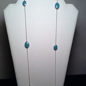 "Jewelry - 30 1/2"" Turquoise Enamel Necklace"