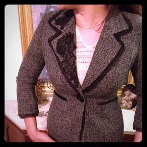 Jackets & Blazers - BRAND NEW BLaZER W/ LaCE TRIM