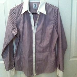 Woman's Brooks Brothers fitted dress shirt