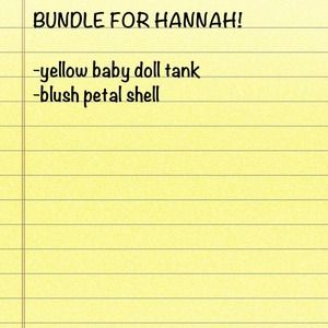 none Other - Bundle for Hannah