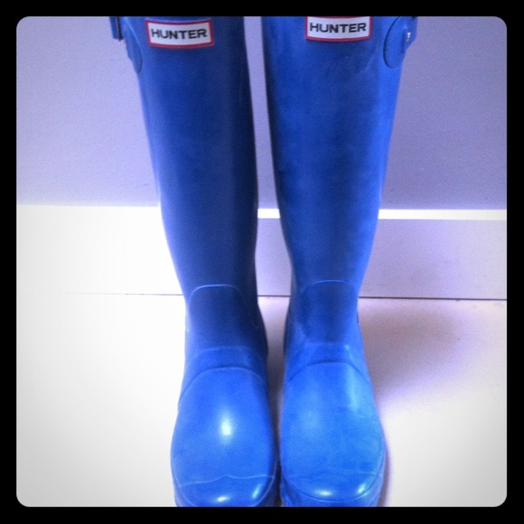 Hunter Boots - Turquoise Hunter Boots, size 8 *no trades