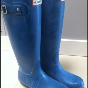 Hunter Shoes - Turquoise Hunter Boots, size 8 *no trades