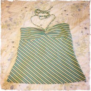 5/$25!🌟 LOFT Striped Tie Neck Halter XS