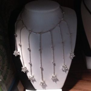 Sale Necklace with dangling flowers