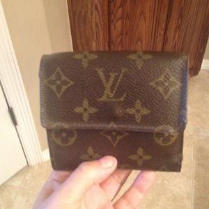 An authentic Louis Vuitton wallet.
