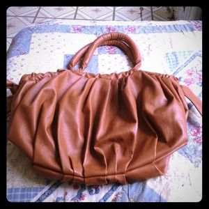 Handbags - Brown shoulder purse with bows on the side