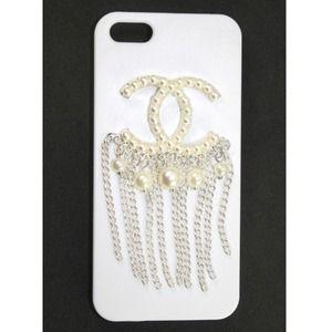 CC Logo Pearl Tassel iPhone 5 Case