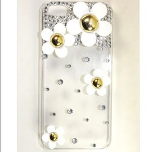 Accessories - White Daisy Flower Bling iPhone 5 Case