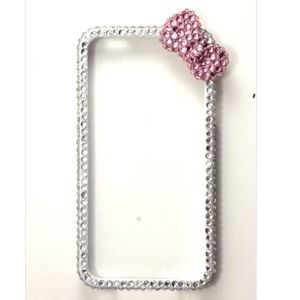 Accessories - Silver Bling iPhone 4/4S Bumper Case