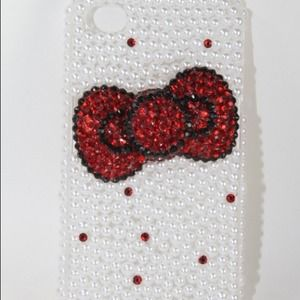 Accessories - Red Bling Bow iPhone 4/4S Case