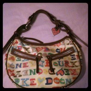 "Dooney & Bourke limited edition ""Doodle"" circlebag"